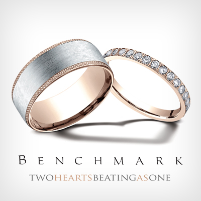 Shop Benchmark Mens And Ladies Traditional And Alternative Metal Wedding  Bands
