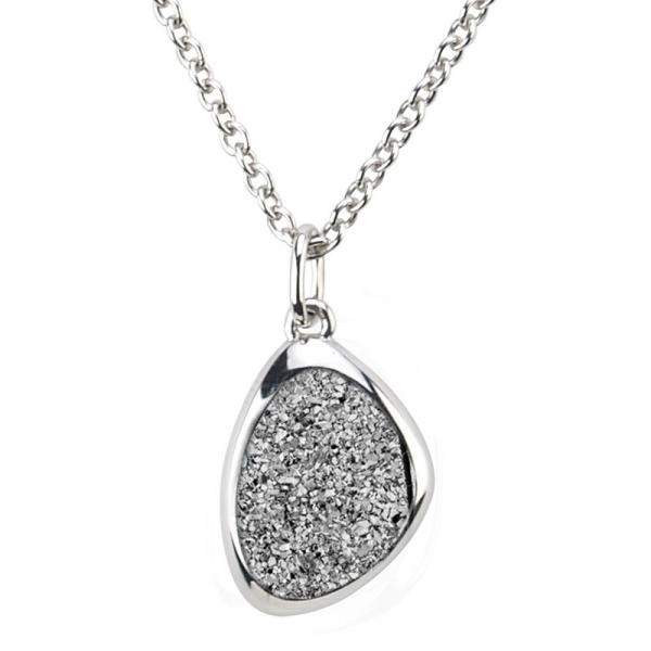 STERLING SILVER LIGHTNING DRUSY WANDA NECKLACE by Frederic Duclos